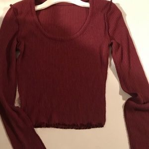 metowe long sleeve crop